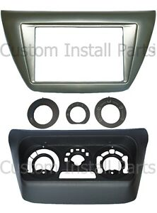 Install Double Din Dash Kit Radio Ac Relocation Fits Mitsubishi Lancer 2002 2007