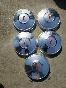 5 Pontiac Dog Dish Poverty Hub Caps Oldsmobile 70 S 80 S 10 1 4 Inch Wide