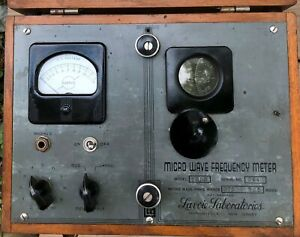 Vintage Lavoie Laboratory Model 105s 375 To 725 Meg Micro Wave Frequency Meter