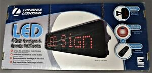 Lithonia Lighting Led Program Scrolling Message Display Screen Sign Sgnscr M4
