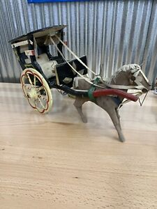 Vintage Wooden Spoke Buggy Wagon Wheels Toy Wagon Carriage