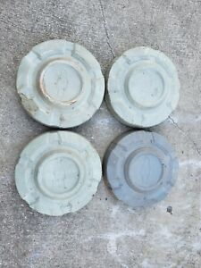 60 s 70 s Chevy Truck Dog Dish 10 1 2 Hubcaps Set Of 5 C10 1 2 Ton 15