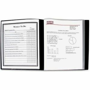 C line 24 pocket Bound Sheet Protector Presentation Book Black 33240 33240