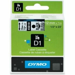 Dymo Black On Clear D1 Label Tape 45010