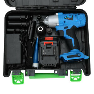 330nm Cordless Electric Impact Wrench Gun 1 2 Dr With Battery High Power