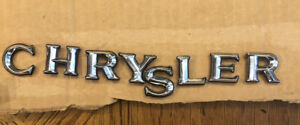 Vintage Chrysler Car Rear Trunk Chrome Emblem Letters