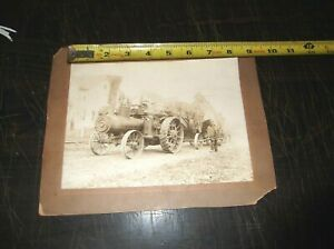 George Frick And Co Eclipse Steam Engine Tractor Black And White Photograph