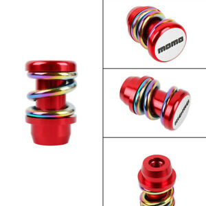 Racing Momo Universal Red neo Chrome Gear Shift Knob Metal Shifter Lever Head