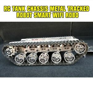 Rc Tank Chassis Metal Tracked Robot Smart Wifi Robot Car Shock Absorption Tzt B