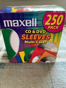New Box Of 250 Maxwell Multi color Paper Sleeves For Cd s Dvd s