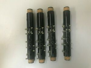 Lot of 4 Evette Clarinet Upper Joints for Parts Repair or Artistic Endeavor