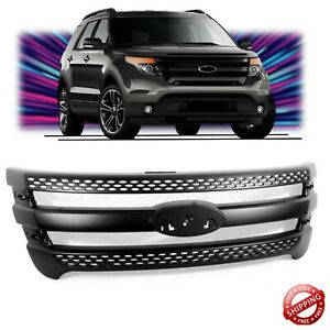 Fits For 2011 2015 Ford Explorer Black Snap On Grille Overlay Front Grill Covers