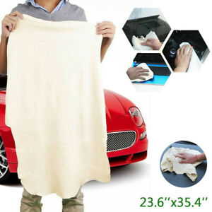 Car Cleaning Cloth Natural Chamois Leather Wash Drying Towel Absorbent Rag Us