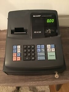 Sharp Electronic Cash Register Xe A106 With Key Drawer And Led Display