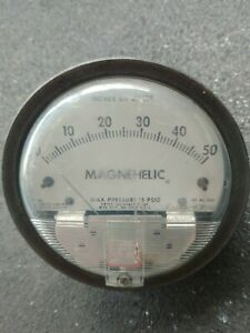 Dwyer Magnehelic Gauge 15 Psig Max Pressure Cat no 2050 0 50 Inches