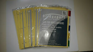 Lot Of 10 Bridgeport 3 ring Binder Index Dividers W 5 Multicolored Tabs