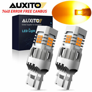 Auxito Amber Yellow 7440 Led 100w Turn Signal Light Bulb Anti Hyper Flash Canbus