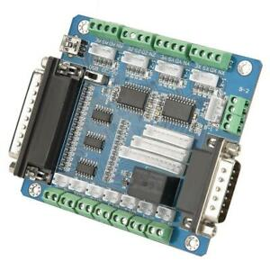 5 Axis Cnc Interface Breakout Board For Stepper Motor Driver Mach3 Controller