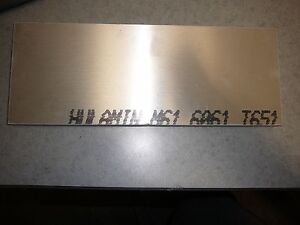 3 4 X 6 1 2 X 9 1 2 Aluminum 6061 Solid Stock Plate 3 4 Inch Thick 75