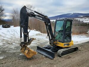 2016 Deere 35g Excavator Cab A c Long Arm Hydraulic Thumb Angle Blade Low Hours