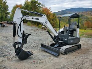 Bobcat E32 Excavator 7k Lb Hydraulic Thumb Kubota Diesel Ready To Work Finance