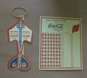 Coca-Cola Collectables ~ Pair ~ Punch Game & Plane Toy ~ 1950s ~ New