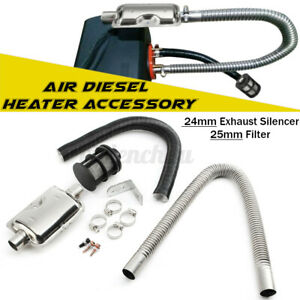 24mm Exhaust Silencer 25mm Filter 2 Pipe Air Diesel Duct Heater Accessory