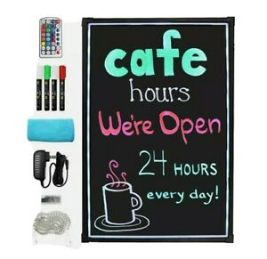 Everbilt 16 In X 24 In Led Message Menu Board With Markers And Remote