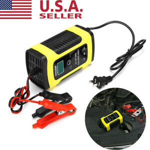 LCD Car ATV 12V 6A Motorcycle Pulse Repair Battery Charger AGM Automatic USA