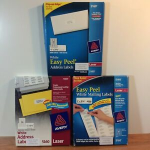 5880 Total Avery 5160 Easy Peel White Address Labels 3 Different Boxes