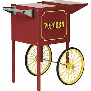 1911 Small Red Portable Popcorn Machine Cart Stand Vintage For 1911 4 oz Model