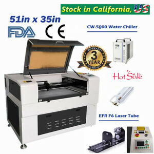 51 x35 Efr F6 130w Co2 Laser Cutter Electric Lifting Worktable Auto focus Fda