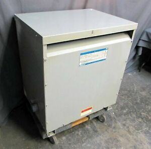 Ge general Electric 75 Kva Type 9t23b3874 3 phase 480v 208 120 Transformer