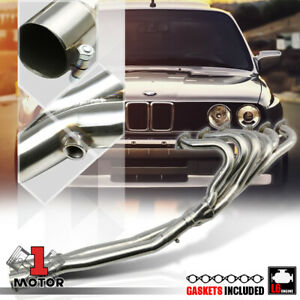 Stainless Steel Exhaust Header Manifold X Pipe For 84 91 Bmw E30 3 Series 6cyl