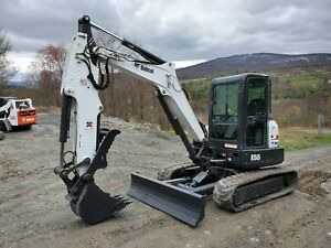 2018 Bobcat E63 Excavator Cab A c Long Arm Hydraulic Thumb Low Hours Very Nice