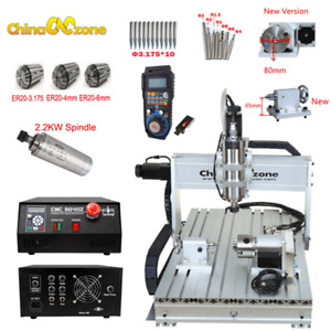 2 2kw Cnc Router 6040 4axis Mach3 Usb Engraving Cnc Cutting Milling Machine Us