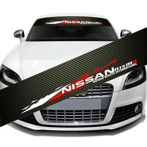 Jdm Nismo Front Window Windshield Carbon Fiber Vinyl Banner Decal 51 X 8 25