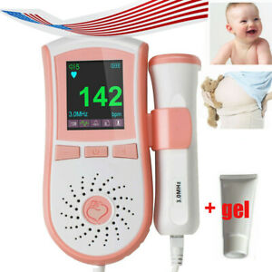 Fetal Doppler Baby Heart Beat Detector Prenatal Monitor 3 0 Mhz Probe free Gel