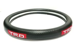 Brand New Trd Carbon Fiber Steering Wheel Cover Carbon Fiber Decal 14 Inches