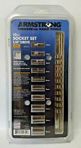 Armstrong 44 322a 10 Piece 1 4 Drive 6 Point Metric Socket Set Usa