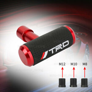Trd Red Leather Car Shift Knob Aircraft Joystick Mt At Transmission Racing Gear