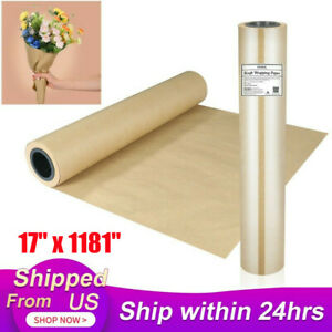 17 X 1181 Brown Kraft Paper Roll Shipping Wrapping Cushioning Void Fill Us