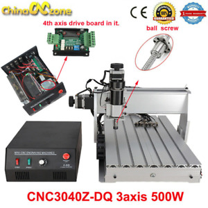 3040z dq Cnc Router 3axis Acrylic Engraving Diy Milling Cutting Machine 500w Us