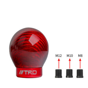 Trd Racing Real Carbon Fiber Red Ball Manual Gear Shift Shifter Knob