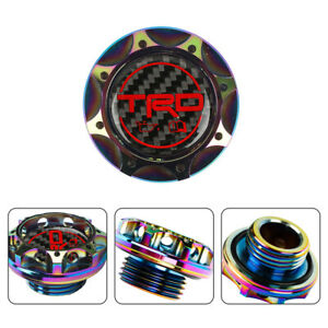 Trd Carbon Fiber Sticker With Aluminum Neo Billet Engine Oil Filler Cap V2
