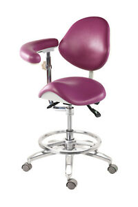 Dental Portable Medical Dentist s Chair Doctor s Stool Adjustable Mobile Chair