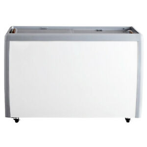 Omcan 46495 60 inch Ice Cream Display Chest Freezer With Flat Glass Top
