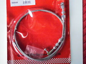Throttle Accelerator Cable 36 Universal Braided Stainless With Ends And Allen