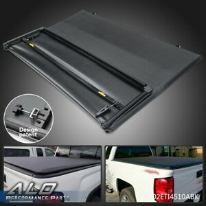 For 2015 2019 Chevy Colorado gmc Canyon 6ft Bed Tri fold Lock Tonneau Cover
