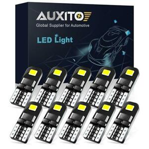 10x Auxito T10 192 168 194 2825 White Smd Led License Plate Map Dome Light Bulbs